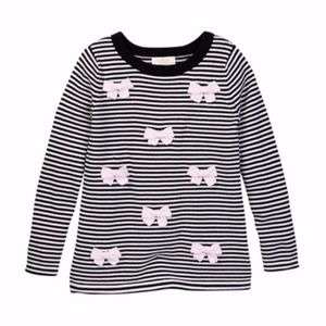 kate spade Knitted Sweater with Bows (Girls)